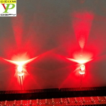 660nm red 5mm led ( CE & RoHS Compliant )