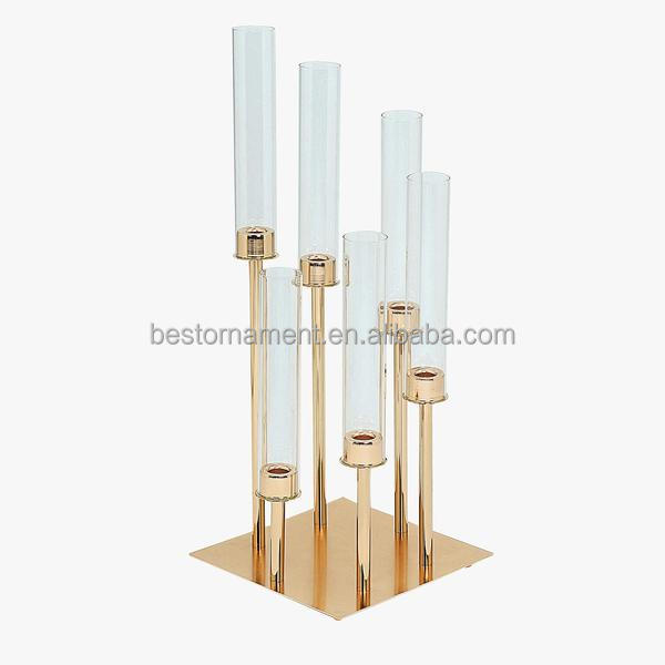 24 Inch Tall Six Arm Round Or Square Metal Cluster Candle Holder Candelabra Wedding Centerpieces View Gold Candelabra Centerpieces Bestthings Product Details From Yiwu Bestthings Ornament Co Ltd On Alibaba Com