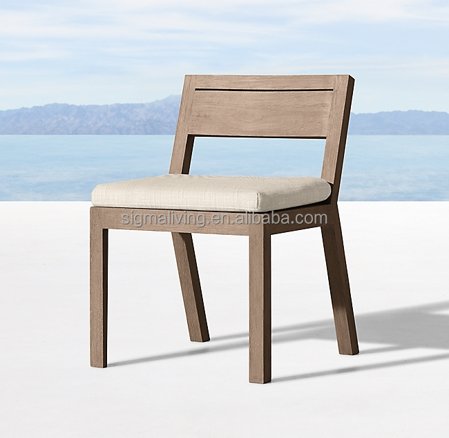 Wooden outdoor patio garden sets teak side chair dining chair furniture