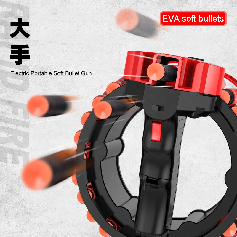 28pcs EVA soft bullets loading hot selling kids electric darts toy gun for boy safety interactive shooting game gatling toy 2021