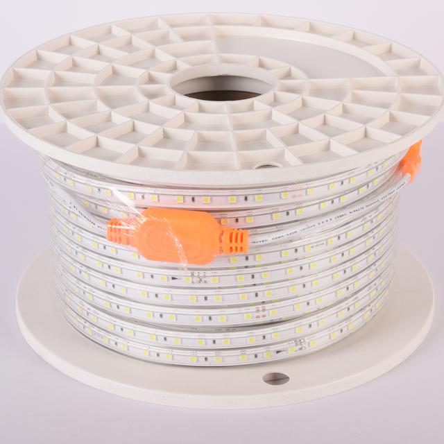 220 В светодиодный Канатный светильник 5050 водонепроницаемый IP65 уличный 110 в 120 в 220 в 230 В переменного тока ПВХ 50 м/100 м один рулон