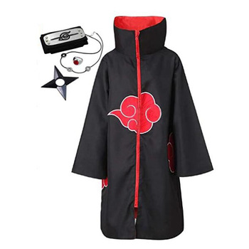 Ecowalson Unisex Black Hoodie Robe Halloween Party Costume Cloak with Headband