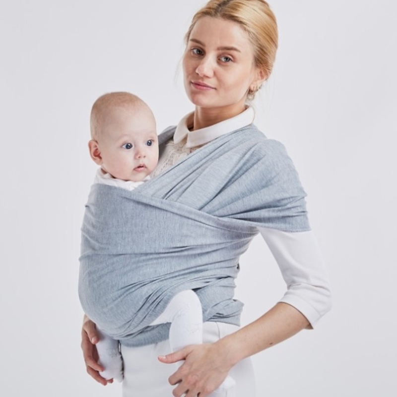 Baby Carrier Sling For Newborns Soft Infant Wrap Breathable Wrap Hip seat Breastfeed Birth Comfortable Nursing Cover Dark Grey
