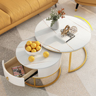 Table Coffee Manufacturer Wholesale Cheap Mini Living Room Table Fashion Creative Metal Tea Table Delicate Marble Coffee Table With Drawer