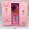 Rose +Pink Gift box+Handbag+Cert