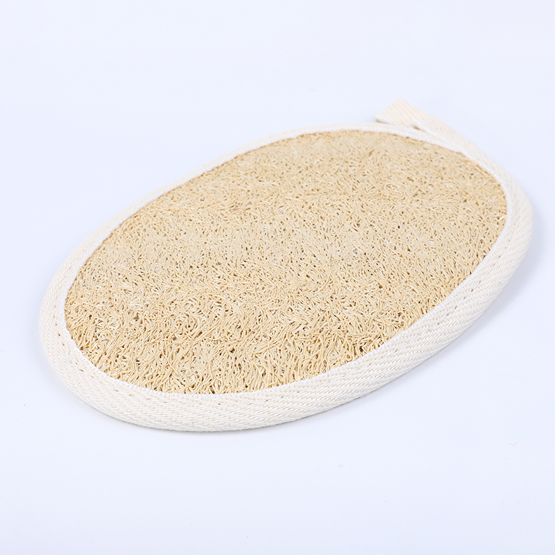 High quality natural wholesale shower loofah sponge body exfoliating gloves