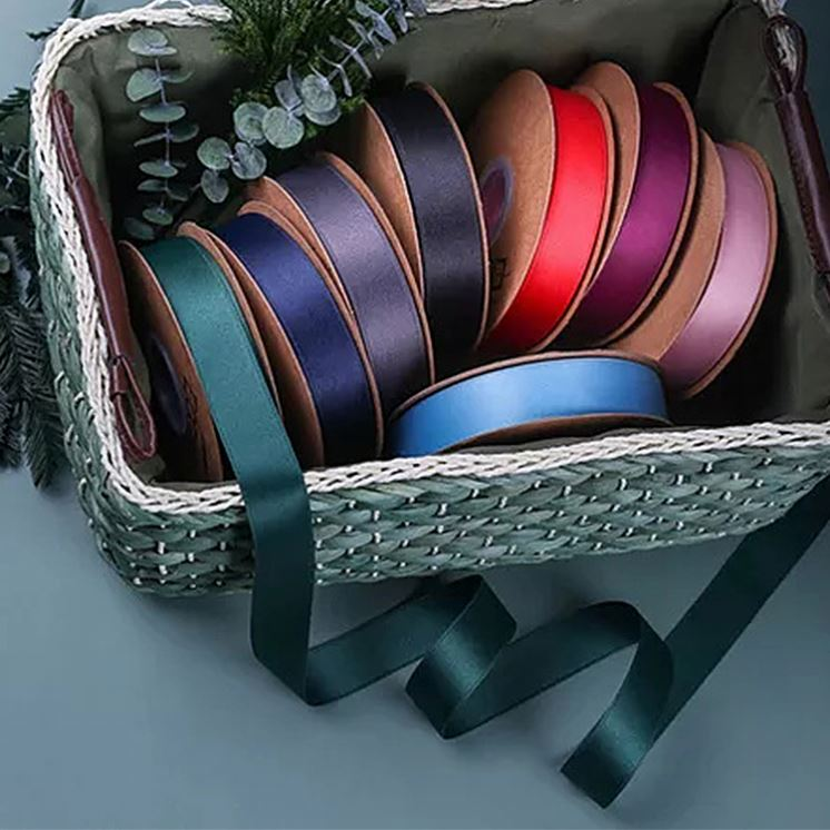 Factory Large Stocked Polyester Solid Color 3 100MM Single Double Faced Satin Ribbon
