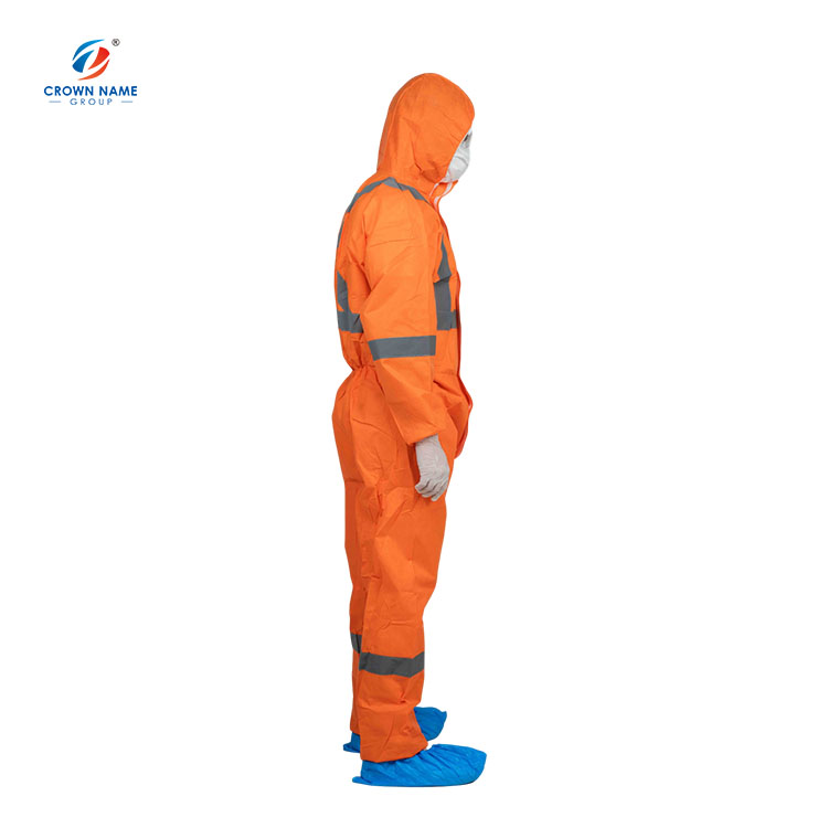 Workwear Safety Microporous Reflective Orange Disposable Coverall Medical - KingCare | KingCare.net