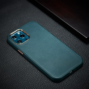 Newest High Quality Leather Cell Phone Accessories For iPhone 12 Leather Case with metal button