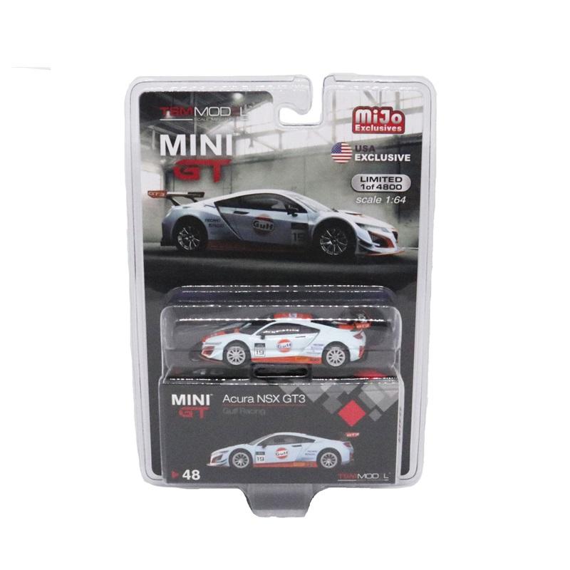 1:64 MINI GT TLB Works Honda Acura NSX GT3 Gulf Mijo USA