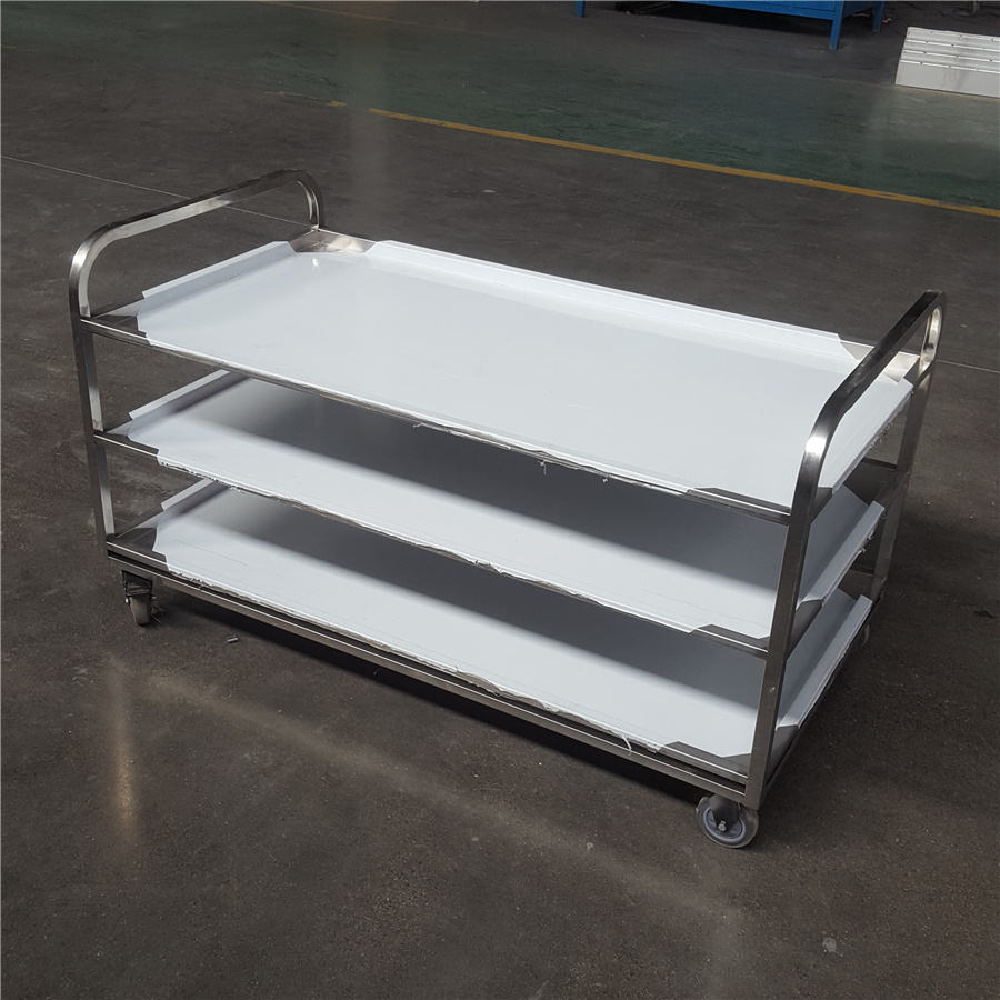 Restaurant Factory Food Service 2 tier commercial kitchen Stainless steel trolley