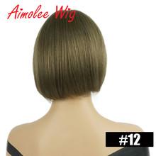 """5 """"x 4"""" моно короткий прямой боб парик их натуральных волос смесь парики для женщин натуральный цвет парики синтетические волосы парик с челко...(Китай)"""