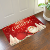 Customized cheaper 100% polyester flannel bath mats set door mat Christmas floor mat Bathroom Rugs Carpet for Inside Outdoor