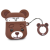 16. brown bear silicone case for airpod 2 1