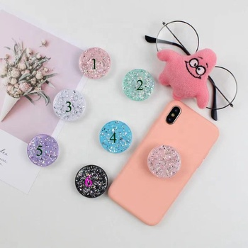 Glitter Sequins Airbag Ring Phone Hand Holder Laptop Stand Mobile Accessories Case Holders For ipad Grip