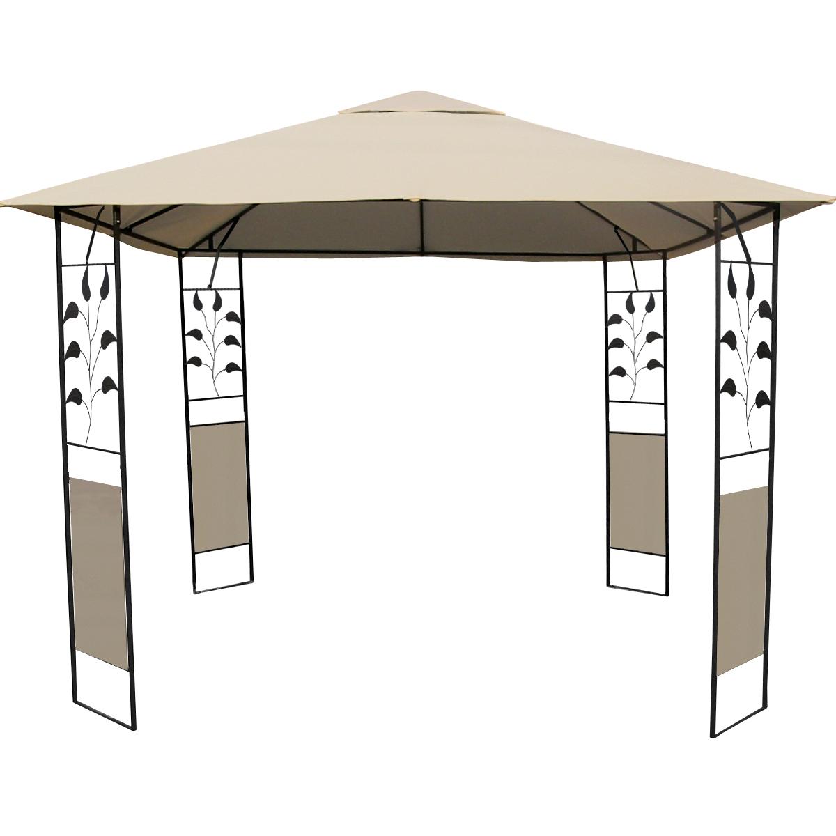 3X3 water proof fabric metal patio gazebo with screen