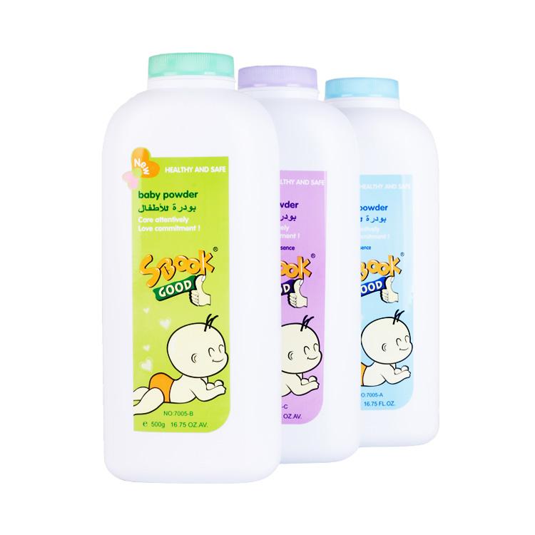 500g Wholesale Kids Powder Skin Care Sbook Baby Talcum Powder for baby