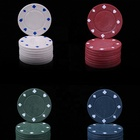 Poker Set 100Pcs Texas Hold'Em Card Games With Chips Poker Chips Set Case Poker Chip Games