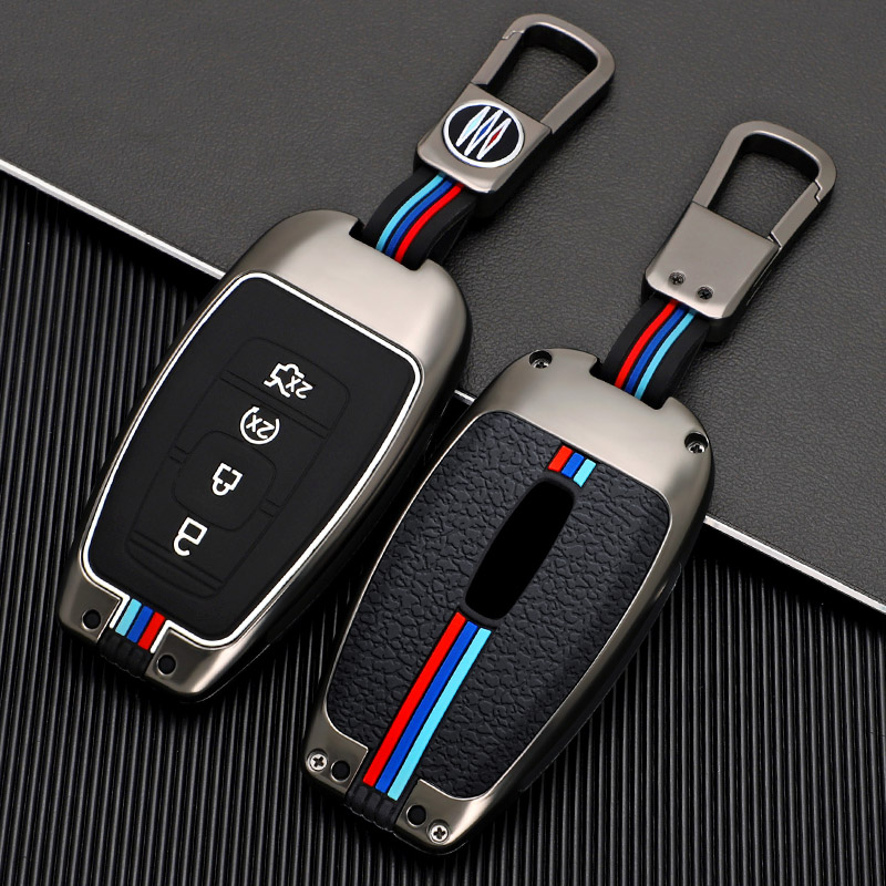 Car Remote Key Cover Case Holder Shell For Lincoln MKC MKZ MKX 2017 2018 2019 Navigator Nautilus Key Fob Accessories Keychain