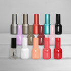 Gel Nail Bottle Empty Nail Gel Bottle 10ml Elegant Colored Custom Empty Uv Gel Nail Polish Bottle