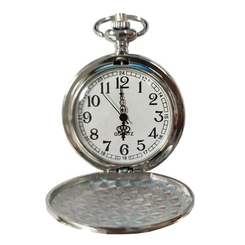 antique silver japan movt quartz pocket watch