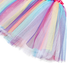 Girls Skirt New Design Girls Party Dress Colorful Skirt Birthday Rainbow Striped Tulle Tutu Dress Butterfly Wings And Wand Tutu Skirt Set