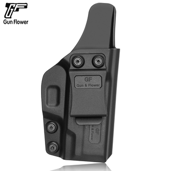 Gun&Flower IWB Police Tactical Paddle Polymer Pistol Holster for Taurus G2C SIG P365Colt1911 CZ75B Glock17