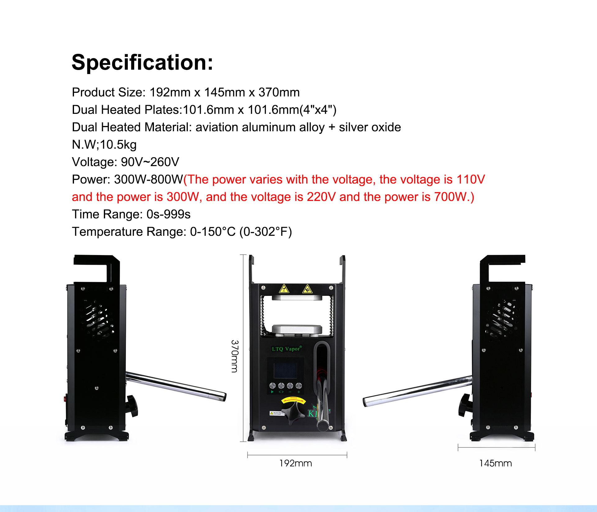 dry herb 4 tons Rosin Press mini oil heat press machine with Dual  press Plates