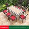 6-8 JL chair 1 Alu frame rectangle table 185*97cm