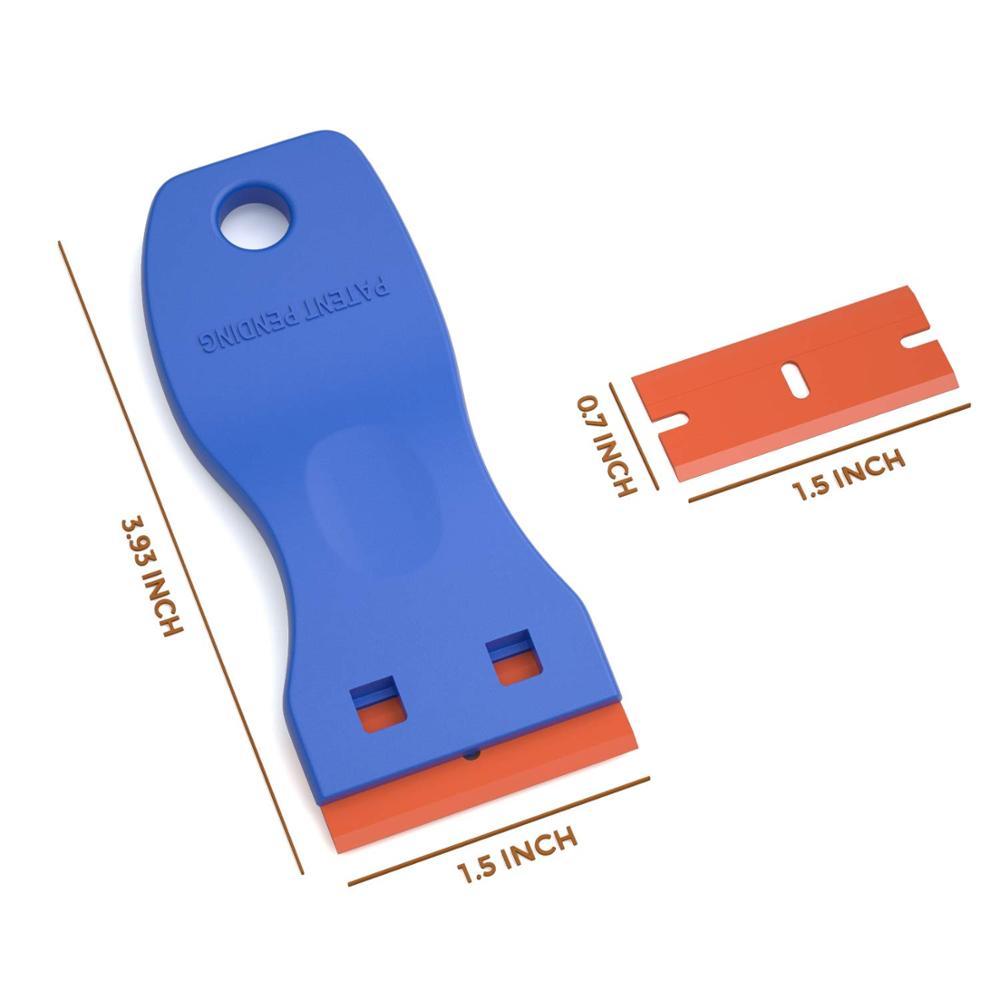 Plastic Razor Blade Glass cooktop Scraper for Label Removal