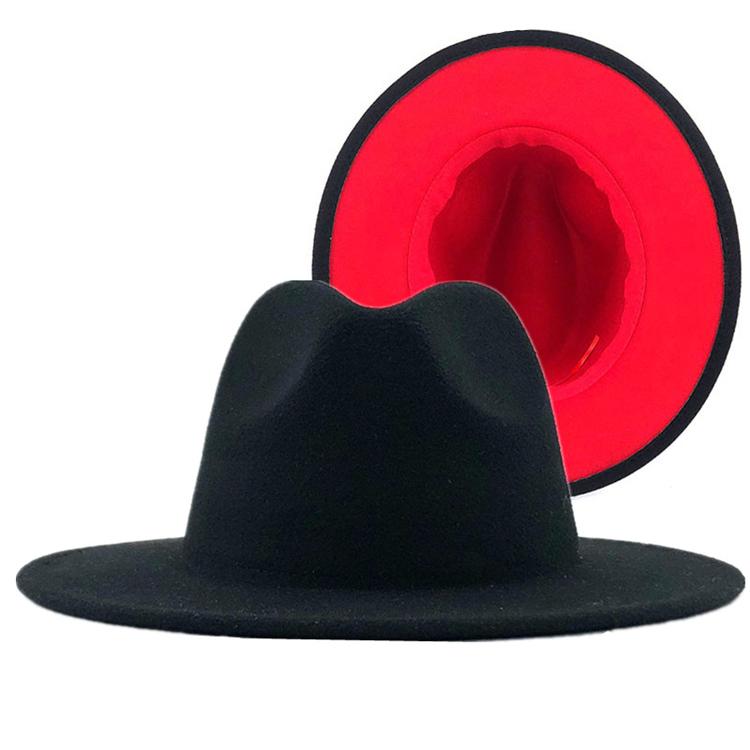 X8888-vintage style fashion ny fur hat women fedora jazz hat stylish wide brim felt hats women