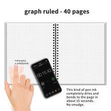 NEWYES графа правили Рисование пишущий спиральный А4 ноутбук умный многоразовый стираемый Журнал Блокнот Школьные офисные подарочные принадл...(Китай)