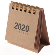 1 шт., настольные календари, сделай сам, блокнот для заметок, планировщик, Расписание, 2020, милые, мини, простые, настольные, с катушкой, календа...(Китай)