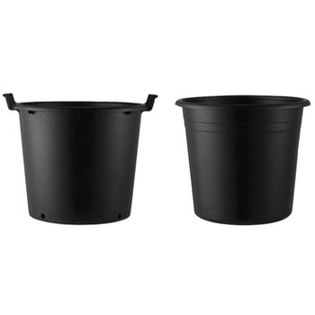 1Gallon Small Garden Plant Black Plastic Nursery Flower Fast Root Growth Pots For Plants