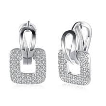 Женские круглые серьги-кольца, серьги из циркония с кристаллами, свадебные украшения, аксессуары(Китай)