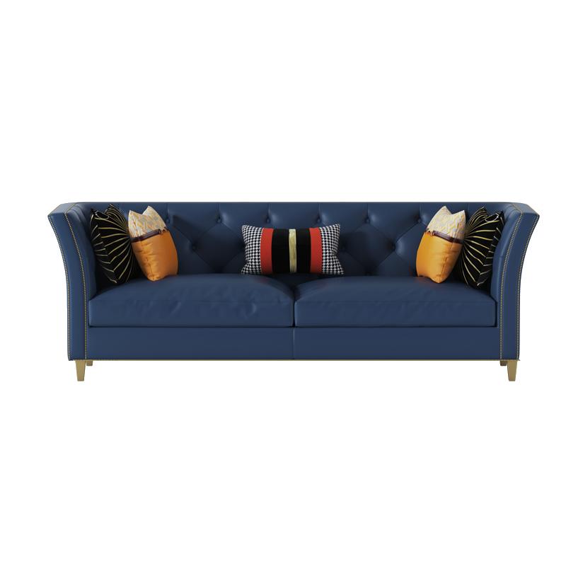 Hot Sale Navy Blue Sofa Modern Design Luxury Furniture Sets For Living Room Microfiber Leather Sofa Buy Modern Style Leather Sofa Guangzhou Furniture Leather Living Room Sofas Modern Original Design Leather Sofa Product