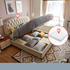White (1.5*1.9m storage bed+mattress)-LS01ZHR270045