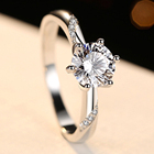 Ring Diamond Wholesale 925 Sterling Silver Ring 416 Engagement CZ Diamond Rhodium Plating For Women