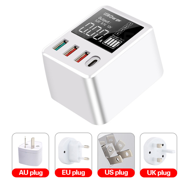 40W 6A 8A Quick Charge QC3.0 USB Charger Wall Travel Mobile Phone Adapter Fast Charger USB Charger For iPhone Xiaomi Huawei