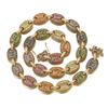 Wit goud 11mm breedte Coffe chain