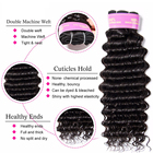 Bundles With Closure Brazilian Raw Virgin Hair Vendors Free Sample Bundles With Closure 100% Unprocessed Human Hair Extensions Cuticle Aligned Hair