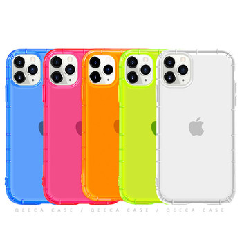Fashion for iPhone 11 Pro Max Case Shockproof Clear Neon Colors Fluorescent Phone Case for iPhone 12 Neon Case