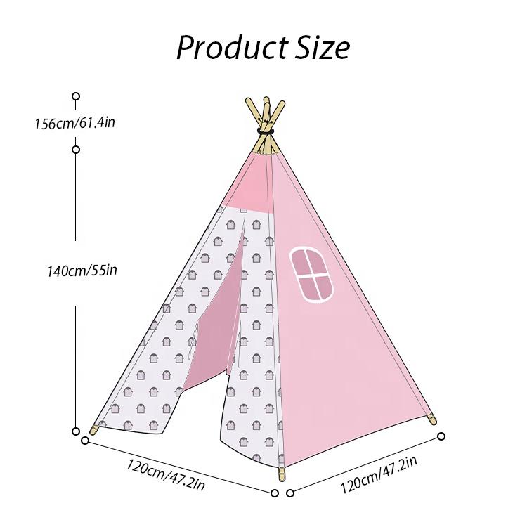 KingGear складные детские индийские игровые палатки для девочек и мальчиков с сумкой для переноски вигвам палатка для детей