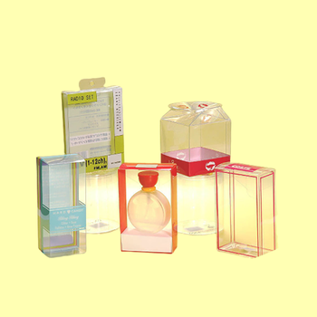 High Quality clear PVC and PET plastic packing gift box