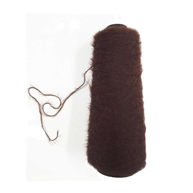 Manufacturer fancy sweater yarn and nylon mink yarn for scarf and scarves