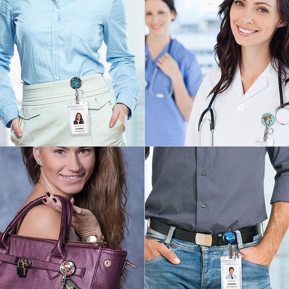 Бейдж Yoyo на заказ, для работников офиса, персонала, медсестер, морских звезд, с выдвижным именем, с зажимом крокодила