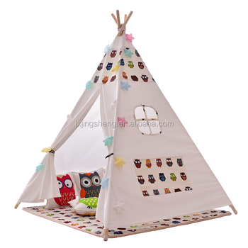 Portable Canvas Children Tepee Tent