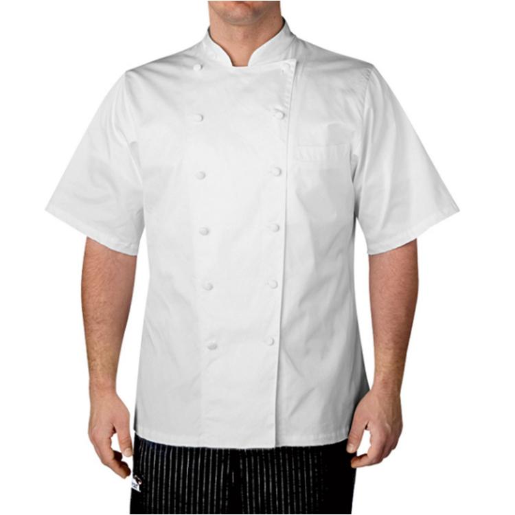 OEM сервис Заводская поставка саржевой ткани пуговицы шеф-повара пальто униформа