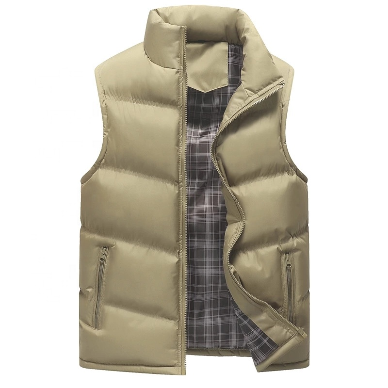 Latest Factory Wholesale Hot Selling Custom Men Winter Down Puffer Waistcoat Lightweight Sleeveless Plus Size Men Jacket