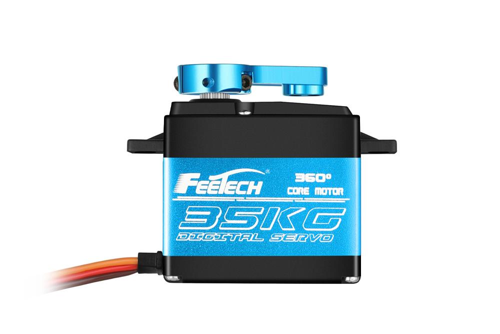 Водонепроницаемый цифровой сервопривод Feetech 35 кг с высоким крутящим моментом на 360 градусов FT6335M для роботов